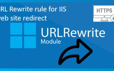 Create URL Rewrite rule for IIS web site redirect